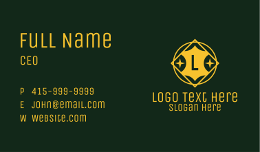 Art Deco Star Letter Business Card