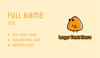 Cute Baby Chick Business Card