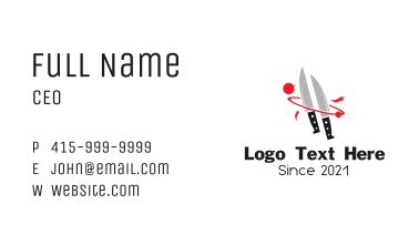 Kitchen Knife Food Business Card