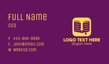 Yellow Elegant Ebook Application Business Card