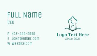 Minimalist Quran Mosque Business Card