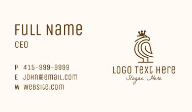 Minimalist Royal Eagle Business Card