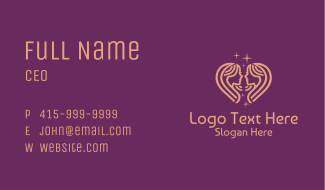 Celestial Gemini Zodiac Business Card