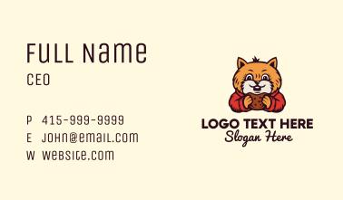 Cat Bread Bakery Mascot Business Card