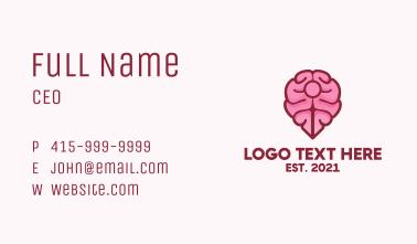 Brain Map Pin Business Card