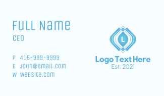 Abstract Geometric Letter Business Card
