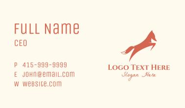 Orange Fox Leaping Business Card