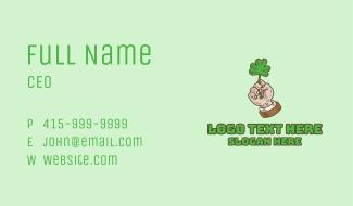 Irish Clover Hand Business Card