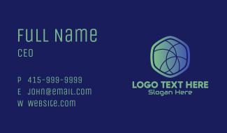 Hexagon Web Developer Business Card