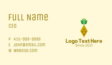 Geometric Pineapple Fruit Business Card
