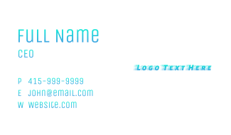 Blue Fast Gradient Business Card