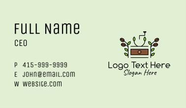 Organic Coffee Grinder  Business Card