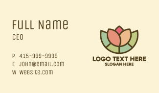 Stained Glass Lotus Business Card