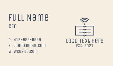 Wi Fi Newspaper Business Card