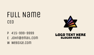 Sunset Prism Printing Business Card
