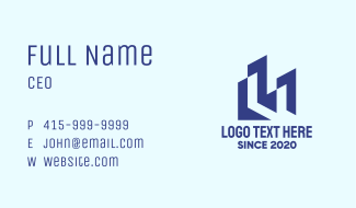 Blue Realty Building Business Card