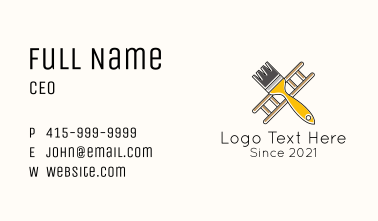 Ladder Paint Brush Tool Business Card