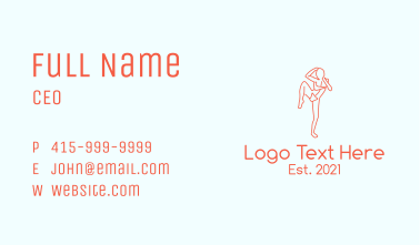 Martial Arts Fighter Business Card