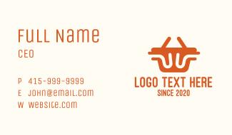 Orange Shopping Basket Business Card