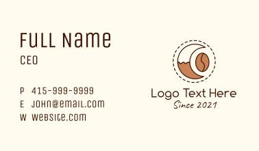 Coffee Bean Moon Cafe Business Card