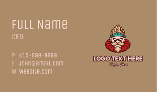 Combat Fighter Character Mascot Business Card