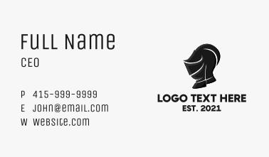 Knight Helmet Mascot Business Card