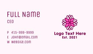 Geometric Flower Spa Business Card