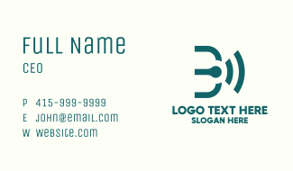 Wi-Fi Signal Letter B Business Card