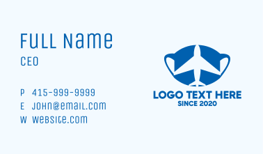 Travel Airplane Face Mask Business Card