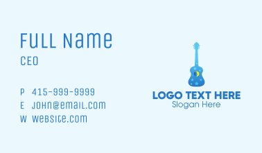 Blue Night Dream Guitar  Business Card