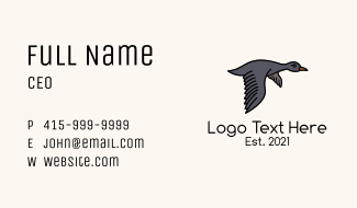 Grey Goose Flight Business Card