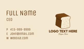 3D Bread Loaf  Business Card