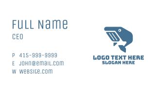 Geometric Blue Whale Business Card