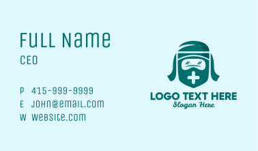 Healthcare Face Shield PPE Business Card
