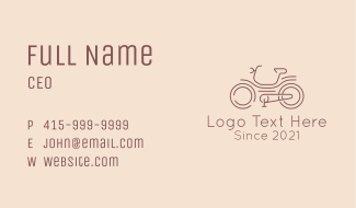 Bicycle Racer Line Art Business Card