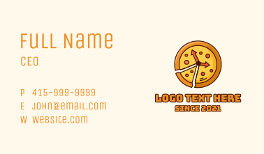 Pizza Time Business Card