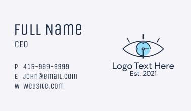 Minimalist Eye Clock  Business Card