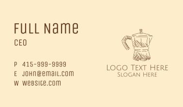 Vintage Coffee Percolator Business Card