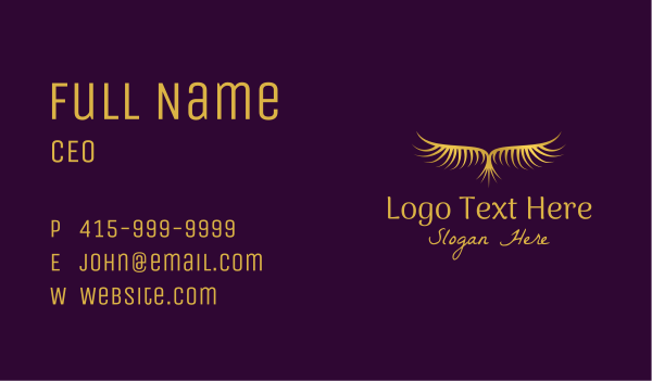 mythical - Gold Phoenix Bird  Business card horizontal design