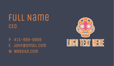 Colorful Mexican Skull Business Card