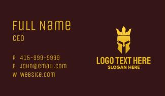 Golden Royal Medieval Helmet Business Card