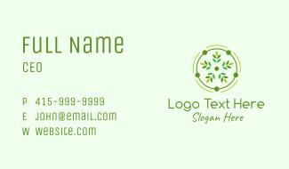 Decorative Flower Leaf Business Card