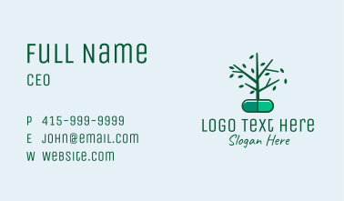 Herbal Medication Capsule  Business Card