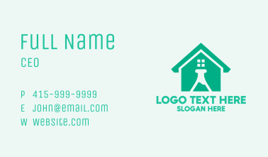 Science Laboratory House Business Card