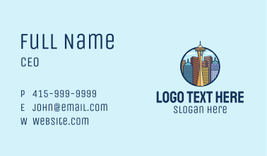 Seattle Space Needle Business Card