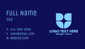Blue Window Tech Shield Business Card