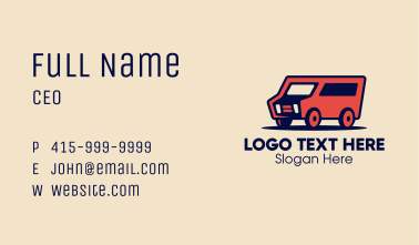 Red Delivery Van Business Card