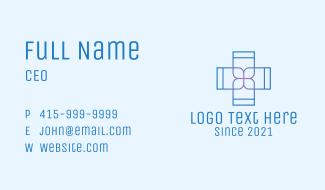 Minimalist Hospital Cross  Business Card