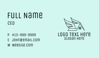 Simple House Wings Business Card