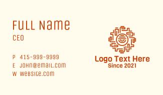 Ancient Mayan Eye Business Card